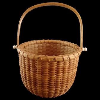"Susan Chase Ottison Nantucket ""Two Egg"" Basket"