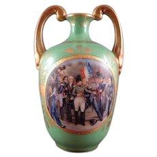 Sevres Porcelain Vase, Napoleon, Les Adieux de Fontainebleau