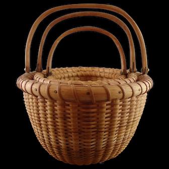 Nest of 3 Susan Chase Ottison Oval Nantucket Lightship Baskets dated 1978