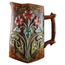 Frie Onnaing French Majolica Pitcher circa 1900