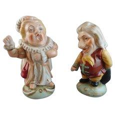Set of 2 Porcelain Mansion Dwarf Figures in the Derby Style