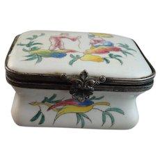 19th Century French Faience Snuff Box, Veuve Perrin, Marseilles