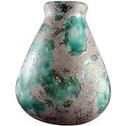 Jerome Massier Vallauris Green Glaze Mottled Vase