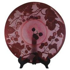 Beautiful Daum Nancy Cameo Rose Glass Centerpiece Bowl