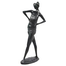 """Emilio Greco (Italian, 1913-1995) Bronze, """"Piccola Bagante"""""""