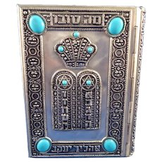 Judaica Silver Jeweled Prayer Book Siddur