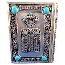Judaica Silver Jeweled Prayer Book Siddur