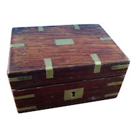 Vintage Rosewood and Brass Box