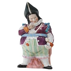 Rare Conta Bohme Court Jester Snuff Taker Figural Humidor Tobacco Jar - Red Tag Sale Item