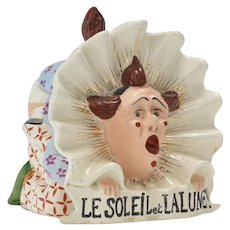 Rare Clown Figural Humidor Tobacco Jar with Bare Bum - Red Tag Sale Item