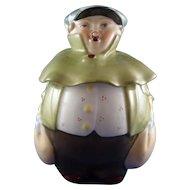 Roly Poly Majolica Figural Humidor Tobacco Jar