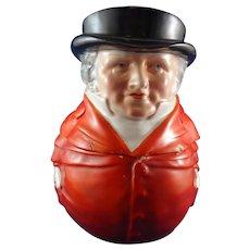 Royal Bayreuth Roly Poly Figural Humidor Tobacco Jar