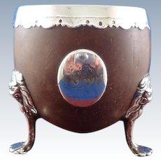 Georgian Silver Mounted Coconut Cup, Circa 1800