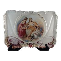 Circa 1800 Royal Vienna Dresser Tray signed Francois Boucher and Blue Beehive Mark