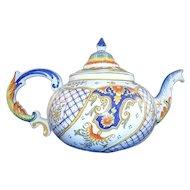 Vintage Italian Faience Majolica Teapot
