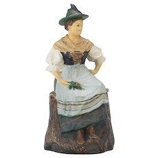 Johann Maresch Figural Humidor Tobacco Jar - Country Woman