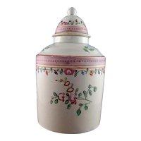 Leeds Creamware Tea Canister, Circa 1780