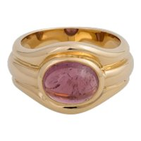 18KT Pink Tourmaline Band Ring