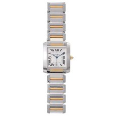 Vintage CARTIER Tank Francaise 18KT Yellow Gold & Stainless Steel Ladies Watch