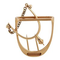 18k Stirrup and Spur Clip Brooch by Hermes of Paris