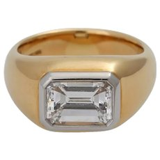 2 ctw diamond solitaire band ring set 18K Gold
