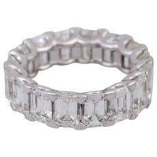 Vintage 12.34 CT Diamond Eternity Ring