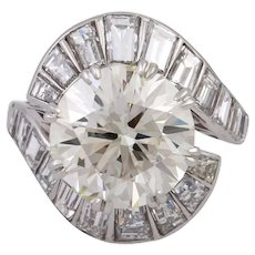 Spectacular Vintage 10.02 cts Diamond Ring