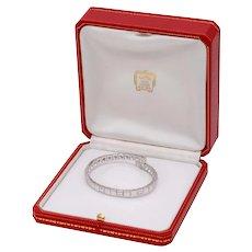 Cartier Tectonique Diamond 18KT White Gold Bracelet 3.15ct