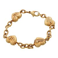 "Tiffany & Co. ""Cupid"" Arrow Heart 18kt Yellow Gold Chain Bracelet"