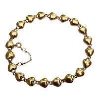Vintage CARTIER 18KT Yellow Gold Linked Heart Bracelet