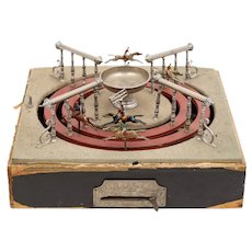 Unusual 1910 French 'Jeu de Course' Mechanical Horse Racing Game