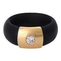 18KT Diamond Rubber Band Ring, Stacking Ring