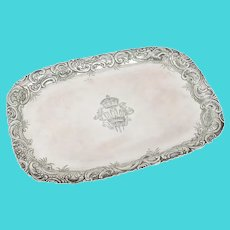 Extremely Rare PRINCE OF WALES German 800  Silver Tray
