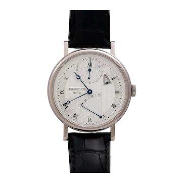 """Breguet Classique Chronometer """"10Hz"""" Power Reserve Silver Dial - 18KT White Gold 41mm on Strap Men's Wristwatch"""
