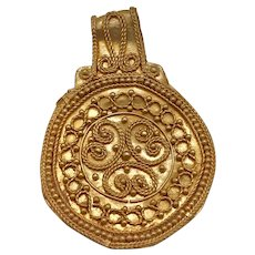 6th Century AD Scandinavian Gold Filigree Pendant