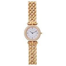 Vintage Van Cleef & Arpels Classique 18K Solid Yellow Gold Diamond Dress Watch