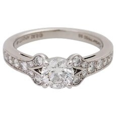 Cartier Platinum and Diamond 'Ballerine' Engagement Ring, GIA Certified