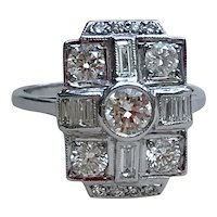 18kt 2ct Diamond Panel Ring, Engagement Ring