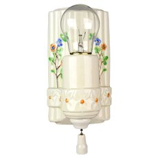 Porcelain Floral Bathroom Sconce