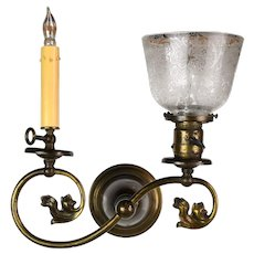 Victorian Gas and Electric Sconce