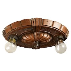 """Puritan"" Two Light Bare Bulb Flush Mount"