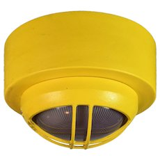 Yellow Wall/Ceiling Mounted Nautical Light