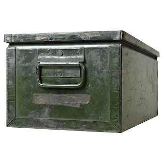 Green Metal Parts Bin - multiple available
