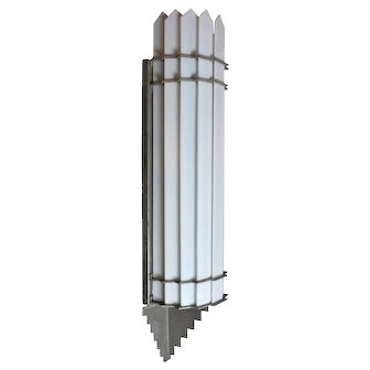 Art  Deco Theater Sconce with Glass Slats