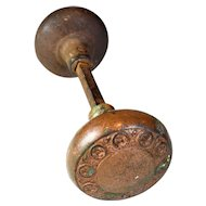 "Egg and Dart ""Geneva"" Iron Door Knob Set"
