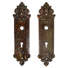 Sargent and Co. Cast Iron Door Plate Set