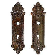 Sargent and Co. Cast Iron Door Plate Set