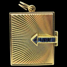 Op Art Tiffany And Company Retro Book Locket RESERVED