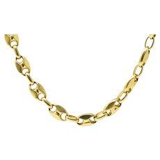 Italian 18K Gold Contemporary Unisex Anchor Link Necklace