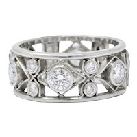 Nathan Levy 1.14 CTW Diamond Platinum Eternity Band Ring